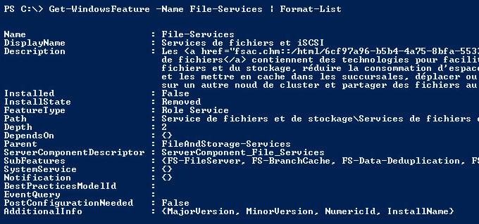 Get-WindowsFeature File-Services