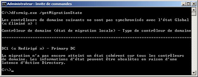 dfsrmig.exe /setGlobalState 3 en cours