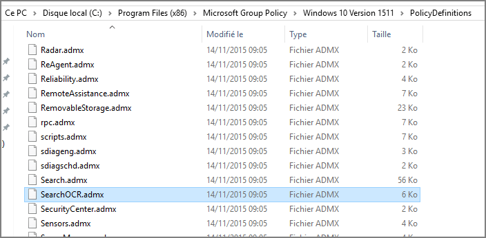 Fichier SearchOCR.admx 1511