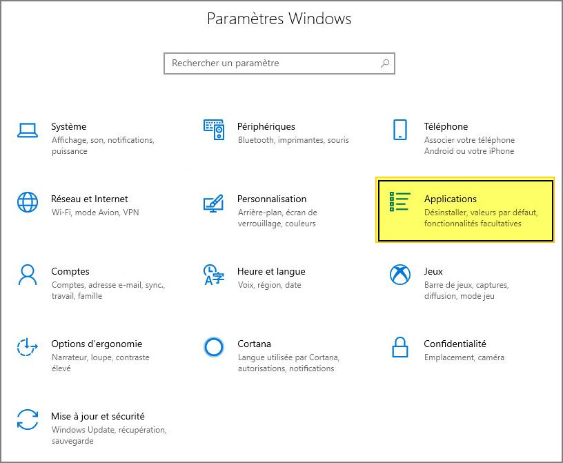 outils d'administration de serveur distant pour Windows 10 1809