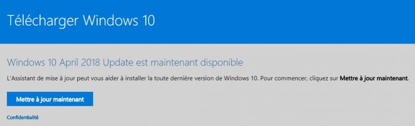 Windows 10 April 2018 Update est maintenant disponible