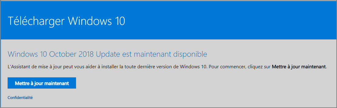 version 1809 de Windows 10